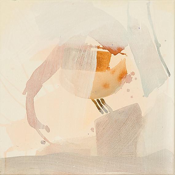 Von der Selbsterkenntnis, Acryl, Tusche, Goldauflage auf Leinwand, 50 x 50